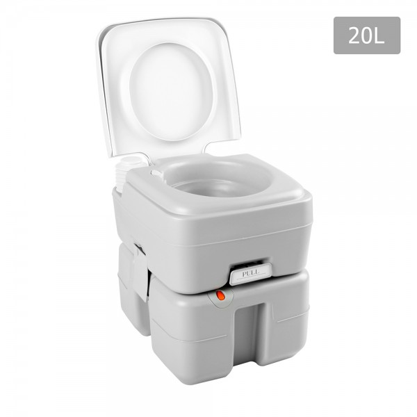portable cing toilet 20l w rotating waste spout cing outdoors